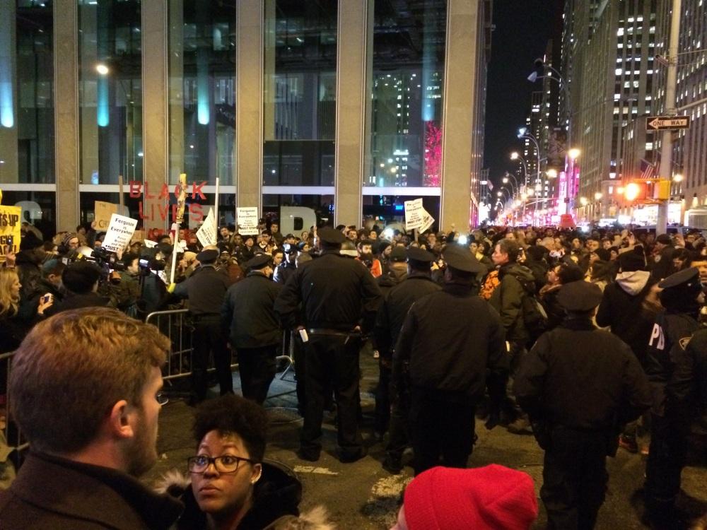 The police barricades